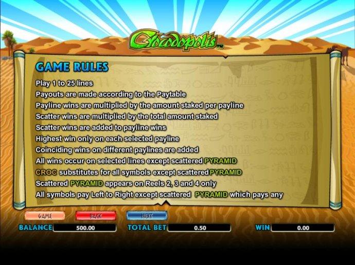 Crocodopolis by No Deposit Casino Guide