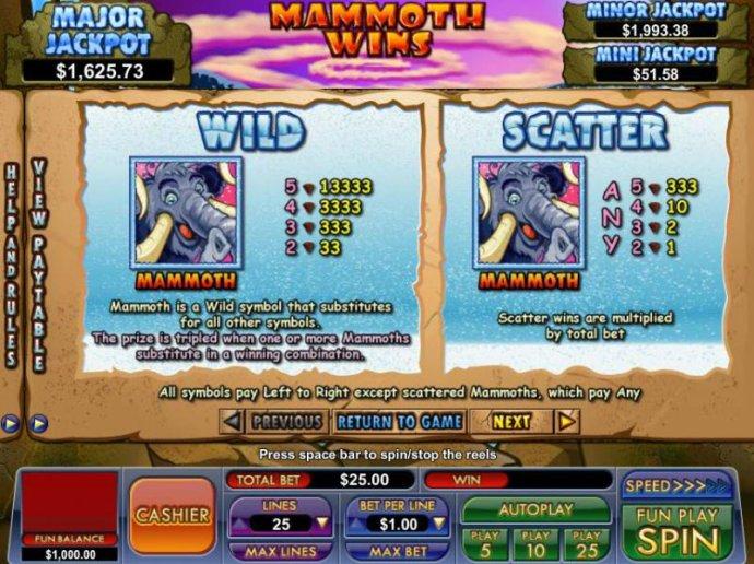 Mammoth Wins screenshot