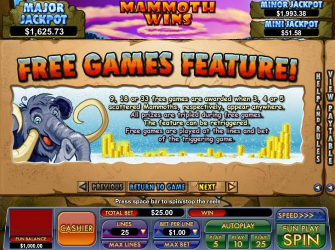free games feature game rules by No Deposit Casino Guide