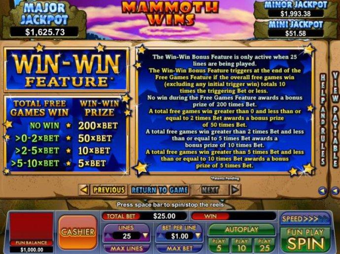 Mammoth Wins by No Deposit Casino Guide