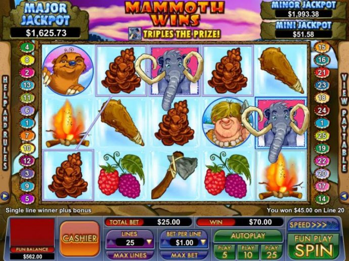 No Deposit Casino Guide image of Mammoth Wins