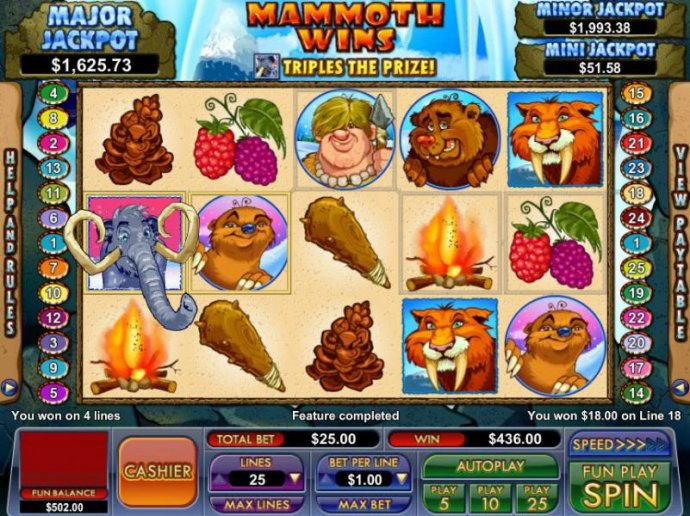 No Deposit Casino Guide - the free games feature pays out a total of $436 for a big win