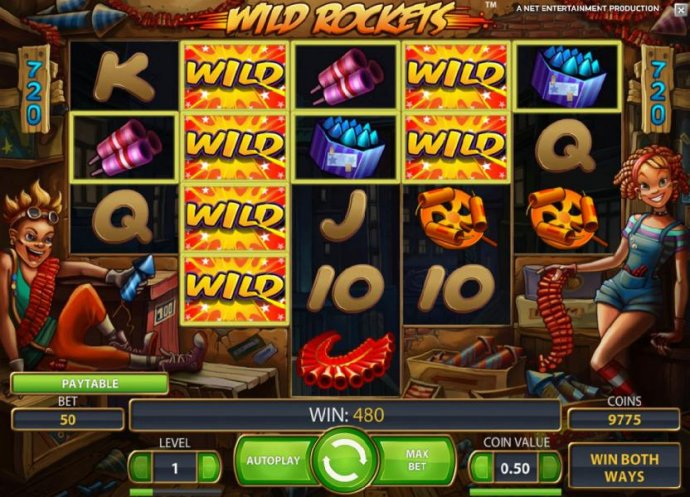 another big win, expanding wilds triggers a 480 payout - No Deposit Casino Guide