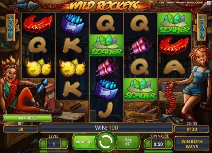 No Deposit Casino Guide - three scatter symbols triggers free spins bonus feature