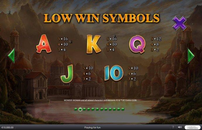 Low Value Symbols Paytable - No Deposit Casino Guide