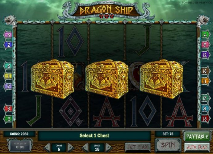 select 1 chest to reveal your prize award by No Deposit Casino Guide