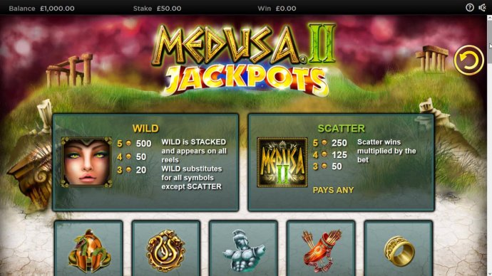 Medusa II Jackpots screenshot