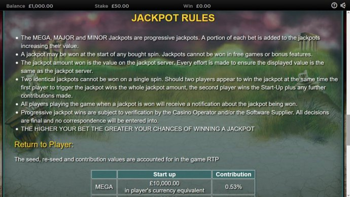 No Deposit Casino Guide image of Medusa II Jackpots