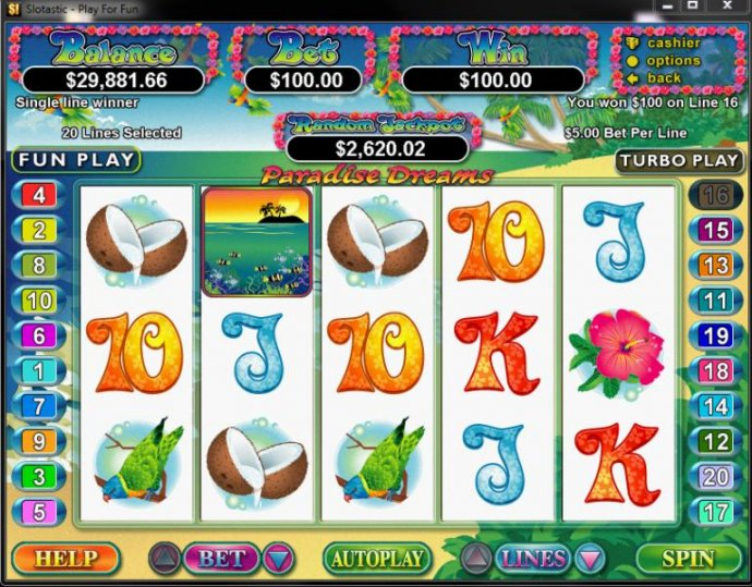 No Deposit Casino Guide image of Paradise Dreams