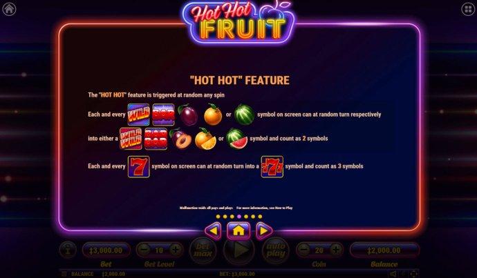 Hot Hot Fruit by No Deposit Casino Guide