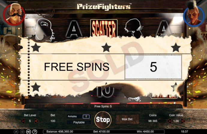 No Deposit Casino Guide image of Prize Fighters