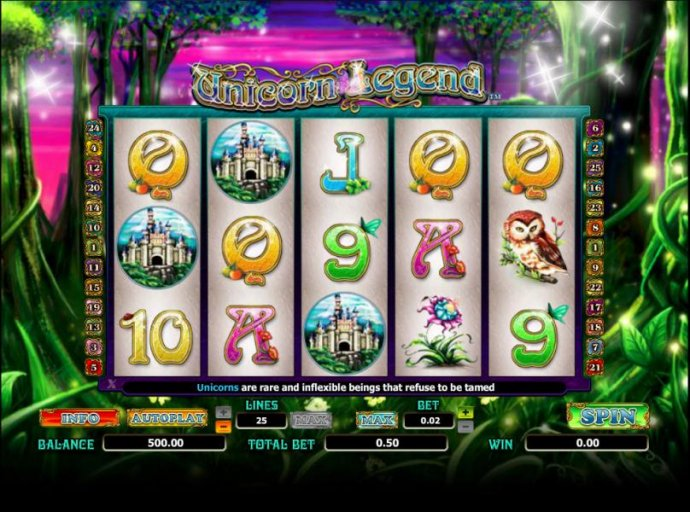 main game board featuring five reels and thirty paylines - No Deposit Casino Guide