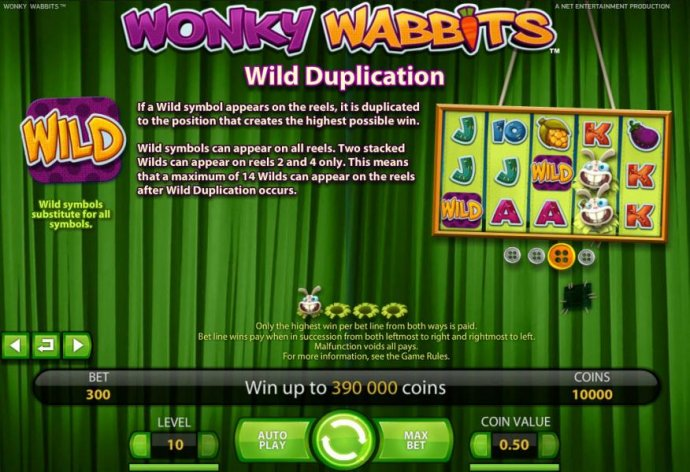 No Deposit Casino Guide image of Wonky Wabbits