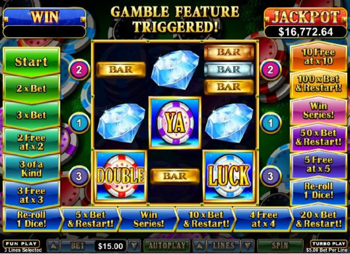 No Deposit Casino Guide - Gamble Feature Triggered