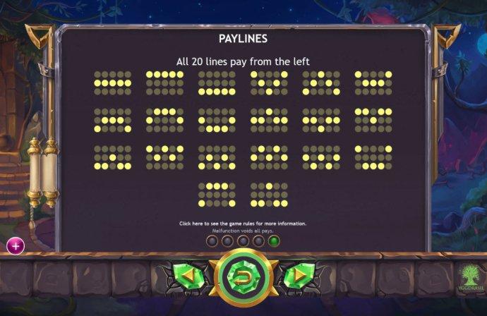 No Deposit Casino Guide - Paylines 1-20