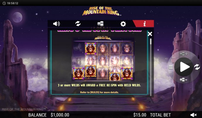 Rise of the Mountain King by No Deposit Casino Guide