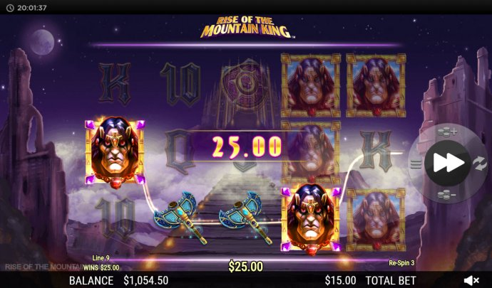 Respin feature leads to a four of a kind by No Deposit Casino Guide