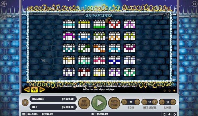 No Deposit Casino Guide image of The Great Escape