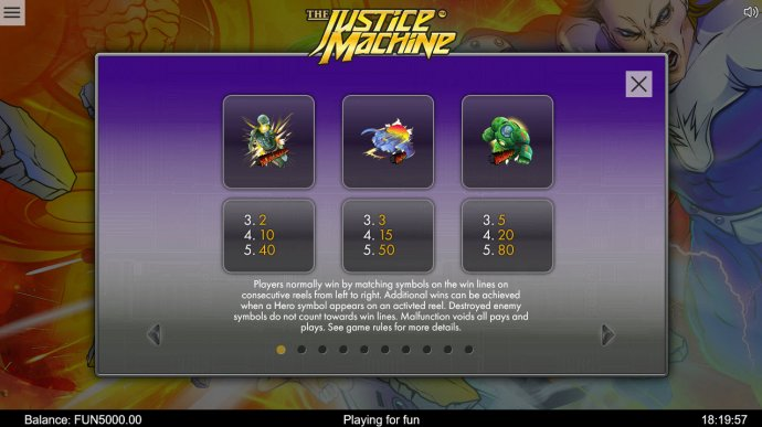 No Deposit Casino Guide image of The Justice Machine