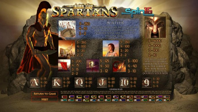 Age of Spartans Spin 16 by No Deposit Casino Guide