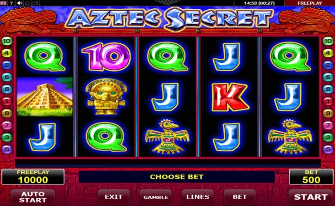 No Deposit Casino Guide image of Aztec Secret