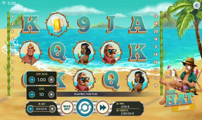 Mr. Hat Sunshine by No Deposit Casino Guide