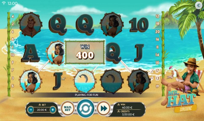 Linked wild triggers a 400 coin win - No Deposit Casino Guide
