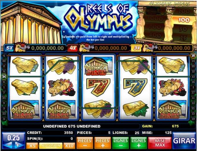 No Deposit Casino Guide image of Reels of Olympus