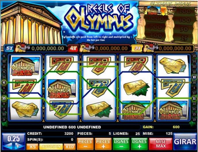 Reels of Olympus by No Deposit Casino Guide