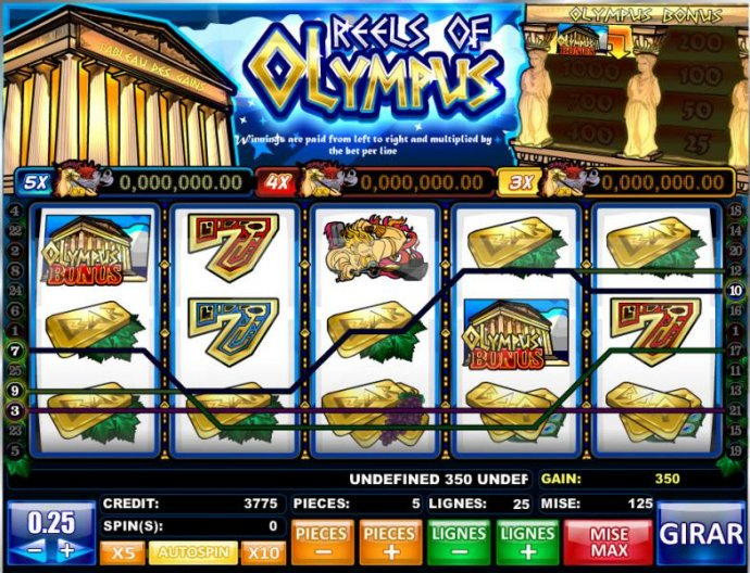 five of a kind leads to a 300 coin payout by No Deposit Casino Guide