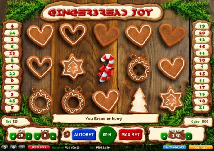 Gingerbread Joy by No Deposit Casino Guide