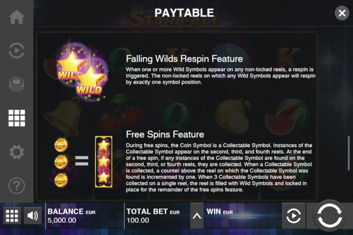 Star Fall by No Deposit Casino Guide