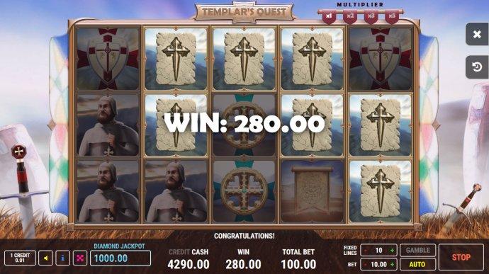 No Deposit Casino Guide image of Templar's Quest
