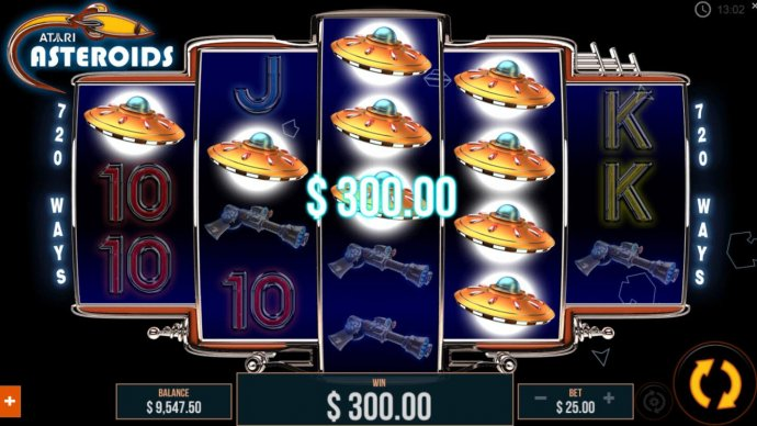 A 3 of a kind triggers a 300.00 jackpot win. by No Deposit Casino Guide