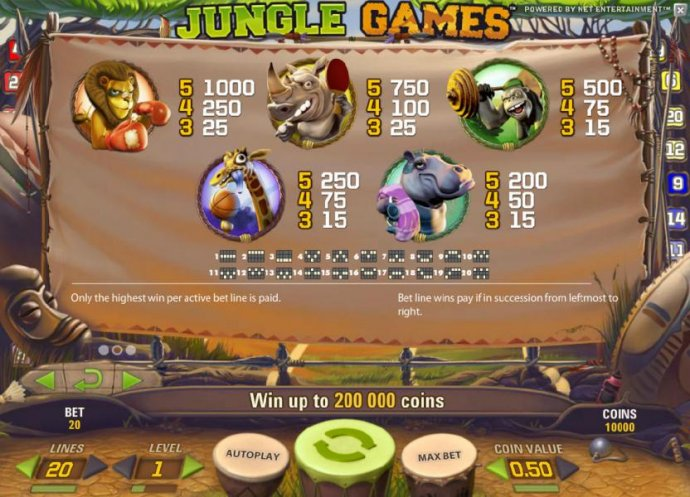 No Deposit Casino Guide image of Jungle Games