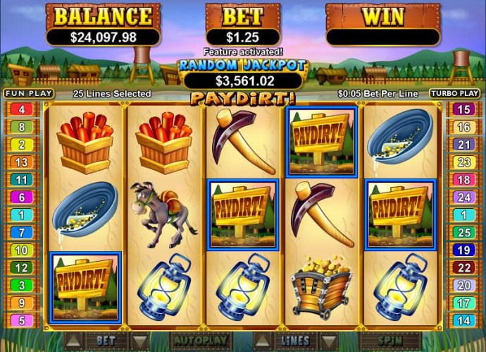 Pay Dirt! by No Deposit Casino Guide
