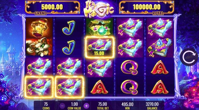 Multiple winning paylines triggers a big win - No Deposit Casino Guide