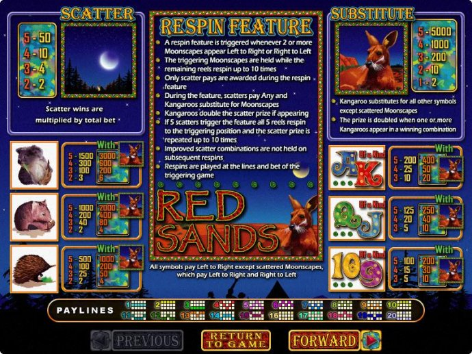 No Deposit Casino Guide image of Red Sands