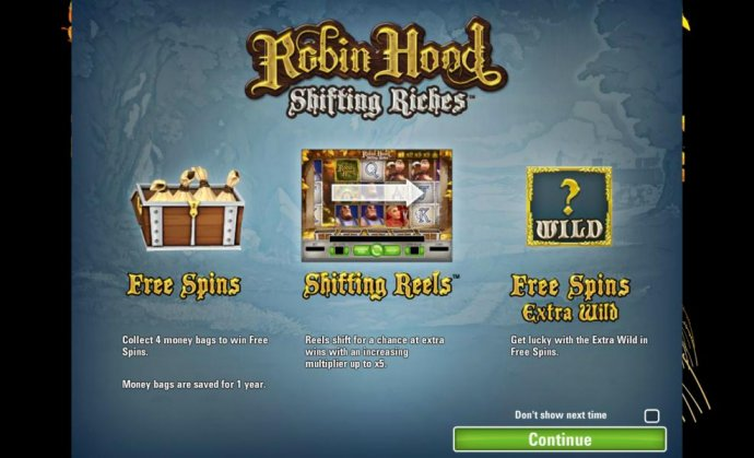 No Deposit Casino Guide image of Robin Hood - Shifting Riches