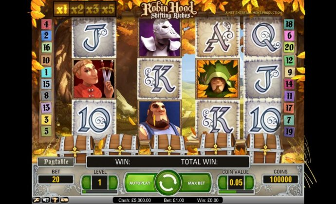 No Deposit Casino Guide - Robin Hood Shifting Riches slot game field
