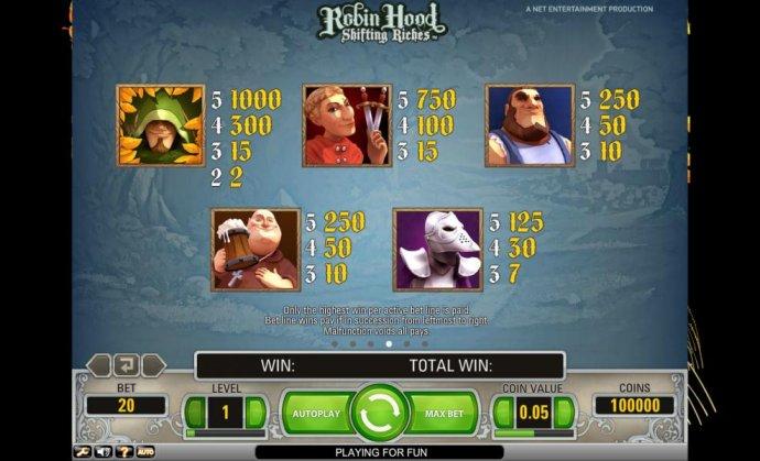 Robin Hood - Shifting Riches screenshot