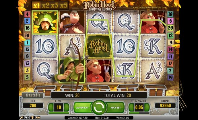 Robin Hood Shifting Riches 220 credit jackpot win - No Deposit Casino Guide