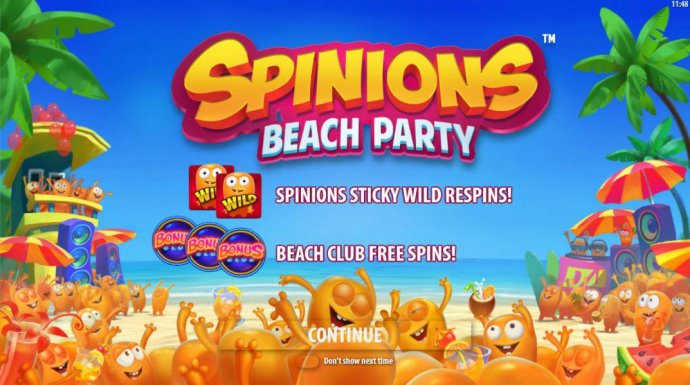 game features include Spinions Sticky Wild Respins! Beach Club Free Spins. - No Deposit Casino Guide
