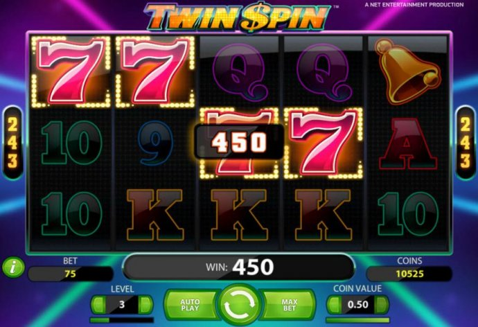 four of a kind triggers a 450 coin big win - No Deposit Casino Guide