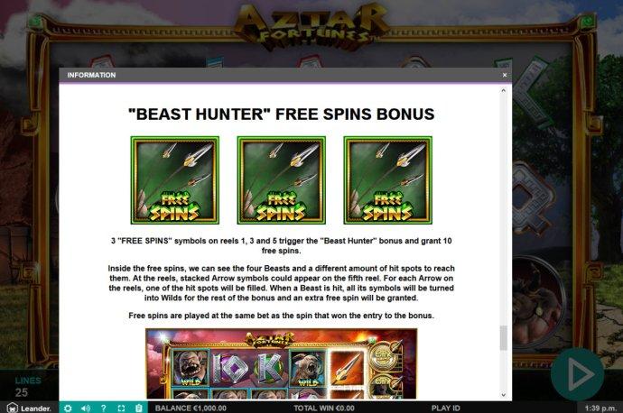 No Deposit Casino Guide image of Aztar Fortunes