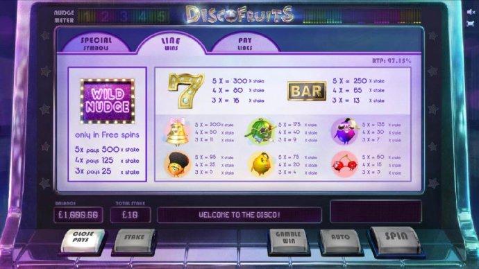 No Deposit Casino Guide image of Disco Fruits