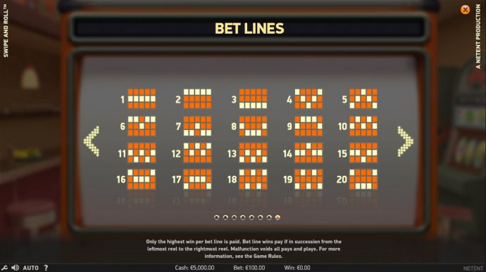 No Deposit Casino Guide image of Swipe and Roll