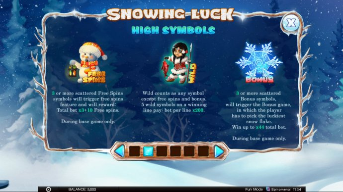 Snowing Luck by No Deposit Casino Guide